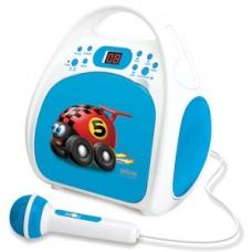 Silva Schneider Kinderradio mit CD und Mikrofon Junior One blau